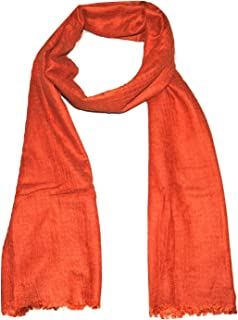 手工羊毛丝绸熔合超大码(76.2 X 203.2 厘米)围巾/花盆。