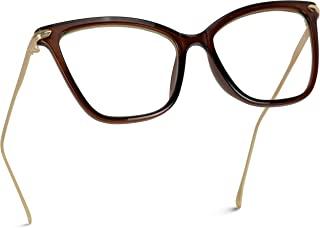 WearMe Pro - 全新优雅超大透明猫眼无*眼镜