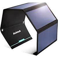 Nekteck 28W 便携式太阳能电池板充电器,防水露营装备太阳能充电器,带 2 个 USB 端口,适用于 iPhon…