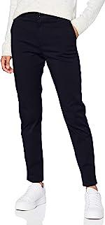BOSS 女式 C Tachi-D 标准剪裁斜纹棉布裤,弹力棉
