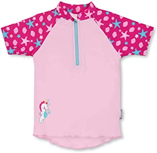 Sterntaler 女童短袖游泳衫,防紫外线 50+,颜色:粉色
