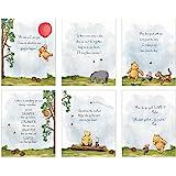 HerZii Winnie The Pooh 婴儿沐浴装饰,礼品印刷品 - 6 件套(20.32 厘米 x 25.4 厘…