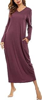 aibrou 女式束腰上衣圆领睡裙高腰短袖睡衣