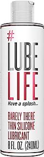 #Lubelife 超薄硅胶持久润滑剂,8 盎司(约 226.8 克)私密润滑剂,适用于敏感肌肤 - 适合男士、女士和夫妻(不含对羟基苯甲酸酯和甘油,防水)