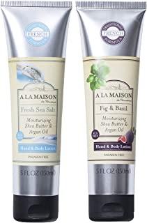 A La Maison 淡海盐、无花果和罗勒手部和身体乳液管 5 盎司