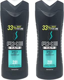 AXE Hair 二合一洗发露 + 护发素,Apollo,16 盎司(2 瓶装)