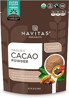 Navitas Organics 可可粉,24盎司/680克 袋装—Non-GMO 公平贸易,无麸质