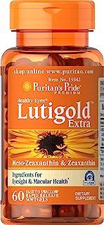 Puritans Pride 普丽普莱 有益于双眼的黄金特软凝胶,60粒
