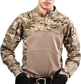 HAN·WILD 男式战术战斗衬衫长袖迷彩软弹*军事 T 恤