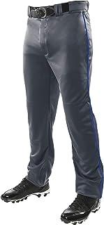 CHAMPRO 三冠 OB 开放式底部棒球裤带侧滚边编织,可调节内接缝和加强滑动区域,石墨色,皇家管,XS 码