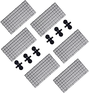 DOHO 水族箱分隔网格分离板鱼缸底部黑色过滤托盘水族箱箱(30 x 15 厘米),黑色) 6 件