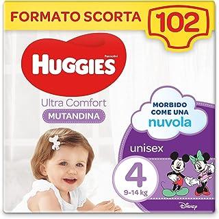 Huggies Ultra Comfort 尿布裤,尺码 4(9-14 千克),102 件