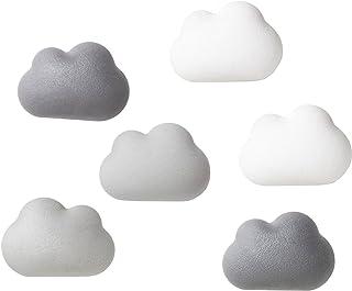 Qually 瓷石 饭勺 磁铁 冰箱 布告板 白板 云 Cloud Magnet 6个装 521707100