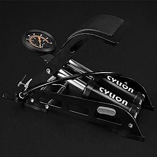 MGGi 双缸地板脚踏自行车气泵 高精度 160 PSI 压力计 便携式充气泵 水星防滑踏板 适用于球、自行车、滑板车、摩托车、汽车、玩具充气