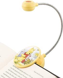 WITHit 迪士尼夹式书灯 �C 小熊维尼和小猪 �C LED 阅读灯带夹子适用于书籍/电子书,可调光,减少眩光,便携轻便儿童书签灯,含电池