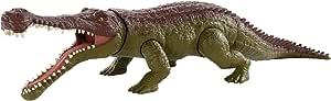 Jurassic World Toys Massive Biters 大型恐龙可动玩具,Sarcosuchus
