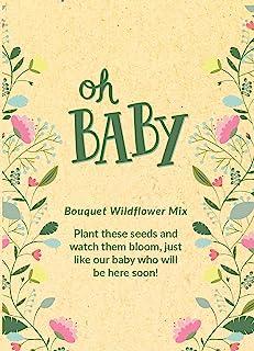 Oh Baby 种子包 | 女孩或男孩迎婴派对礼品 - 黄色