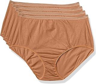 Hanes 女士完美匹配*二层皮肤棉内裤 4 条装