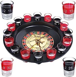 Schramm® 成人饮酒游戏轮盘赌,包括礼品包装 派对游戏饮酒游戏