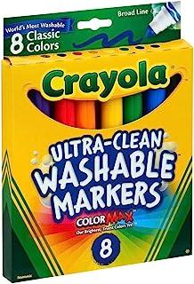 Crayola Broad Point 水洗马克笔 6片装 多种颜色