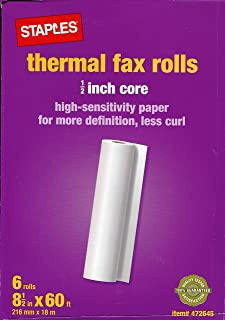Thermal Fax Rolls 1/2-inch Core High Sensitivity Paper for More Definition, Less Curl
