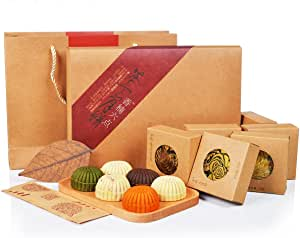 香楠六点茶食月饼 抹茶/木瓜/芒果/榛子/鲜花糕点点心月饼礼盒300g