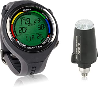 Mares 智能空气潜水电脑腕表带或不带 LED 发射器