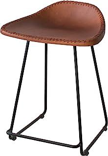 宫武制作所 凳子 MASALA 42x36x56cm 棕色 真皮坐垫 KNC-M460