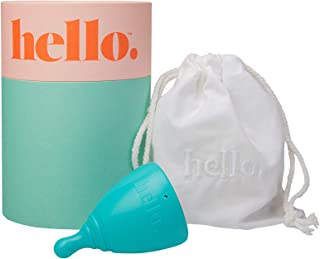 THE HELLO CUP 小号/中号*杯 -- FDA 注册,不含 BPA,可重复使用,低致敏性,可回收,*级 TPE,无硅胶/橡胶/乳胶,持久,光滑舒适 -- SM 蓝色,1 只装