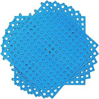 互锁浴室地垫地板砖:防滑泳池淋浴浴室厨房垫模块化互锁垫子 11.88 英寸 x 11.88 英寸