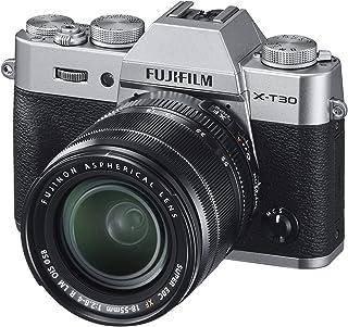 Fujifilm 富士 X-T30 无反光数码相机 w/XF18-55mm 套装 - 银色