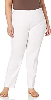 SLIM-SATION 女式加大码宽带套穿纯色九分裤