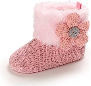 新生儿男婴女童 Botties 舒适羊毛袜短靴婴儿柔软防滑底婴儿学步鞋学步学步鞋温暖婴儿鞋中性款婴儿拖鞋袜子鞋 0-18 个月