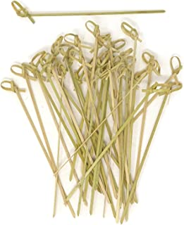 Honbay 100 件 15 厘米 6 英寸鸡尾*叉竹制结叉叉骨叉绞骨头端竹制竹子