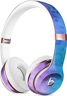 混合粉蓝 3 吸水水彩纹理 DesignSkinz 全身皮肤套件 DRE Solo 3 无线耳机/超薄/哑光/保护性皮肤包装