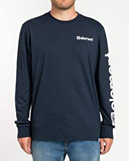Element 男士 Elementjoint - T 恤 Manches Longues - Homme - M - 蓝色 T 恤