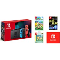 任天堂 Nintendo Switch主机 Joy-Con(L) 霓虹蓝/(R) 霓虹红(电池持续时间长的型号)&热闹…