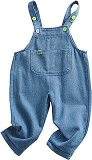 婴儿男孩女孩工装裤纯色灯芯绒宽松背带口袋连衫裤一件式套装