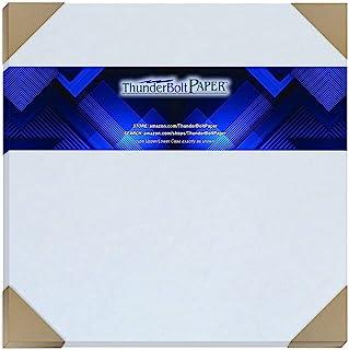 50 浅蓝色羊皮纸 65 磅封面重量纸 - 30.48 x 30.48 厘米(30.48 x 30.48 厘米)剪贴簿专辑|封面尺寸 - 可打印卡片纸彩色纸旧羊皮纸