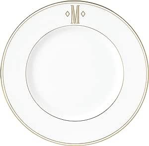 Lenox 联邦金块交织字母餐具 字母 M 870058