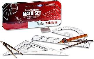 Premier Stationery 学生解决方案数学套装,8件套,红色