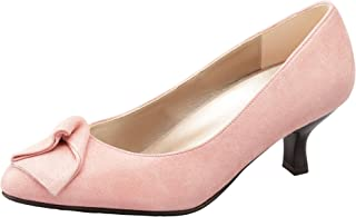 [SACUWALK] 浅口鞋 圆头 鞋跟 5cm EE 山羊皮 WIN204 女士