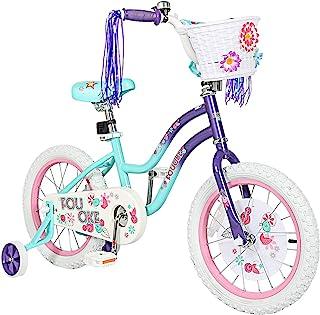 Princess 儿童自行车 12 14 16 18 英寸(约 45.7 厘米)男孩女孩自行车带训练轮儿童自行车,适合幼儿和儿童