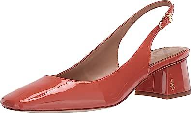 Sam Edelman 女士一字扣方跟真皮后空凉鞋