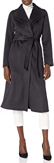 T Tahari 女式 Maxi 双面羊毛大衣,配有可选自带腰带