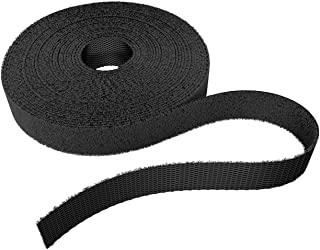 KabelDirekt 细长挂钩和环带,适用于电缆(1.2 厘米 x 15.2 米),可重复使用,黑色