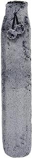 Hodge and Hodge 超长热水瓶,带人造毛皮套和绒球超薄设计,适用于热疗肌肉酸痛缓解背痛颈部应力肩痛 72 厘米 - 2 种颜色浅灰色