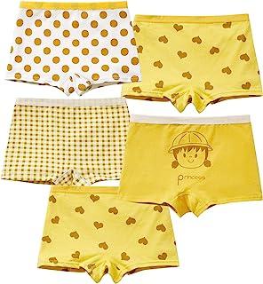 MiSense 5 件装女童内衣棉质内裤女童内裤儿童内裤 2-11 岁
