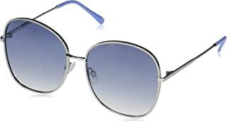 Vince Camuto 女式 VC881 圆形方形金属太阳镜,带纹理几何蚀刻框架和 * 防紫外线,62 毫米