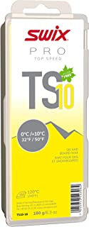 TS10-18 - *速度蜡 - TS8 黄色 - 32 度以上华氏度 - 180 克棒 - 无氟 - 滑雪或滑雪板 - FIS 认证